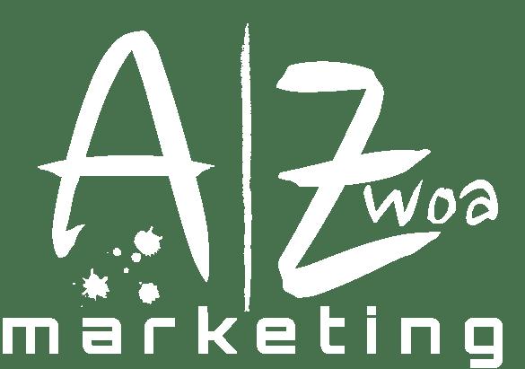 AZwoa Marketing Logo Weiß